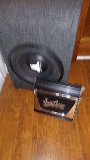 JL Audio speaker and West Cost Custom woofer for Sale in Baltimore, MD