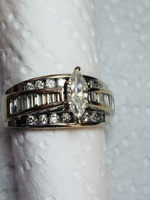14k White Gold Real Diamonds Ring,Total Diamonds 3 CT. SIZE 8.5 for Sale in Lynwood, CA