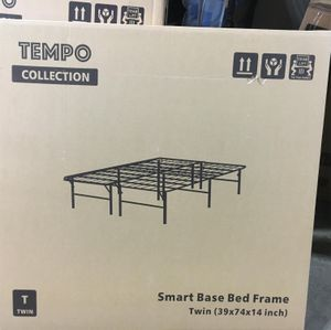 Tempo Collection 14 inch High Profile Platform Smart Base Bed Frame, Twin for Sale in Bell Gardens, CA
