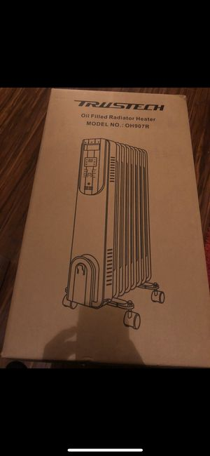 Brand New Aikoper Space Heater, 1500W Oil Filled Radiator heater with 24-Hours Timer, Remote Control, Digital Thermostat, Tip-over & Overheat Protect for Sale in Blacklick, OH