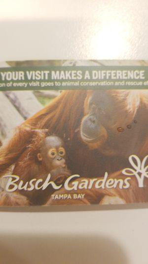 Busch Gardens Tampa Howl-O-Scream Tickets for Sale in West Palm Beach, FL