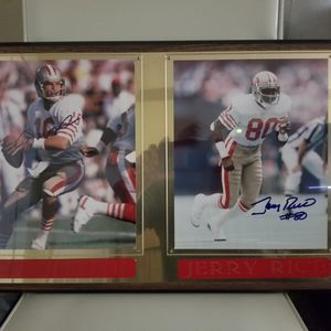 Vintage Autographed Photos Of Joe Montana & Jerry Rice for Sale in Falls Church, VA