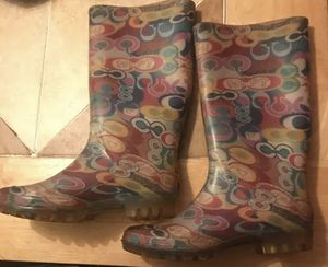 Never used Coach poppy rain boots for Sale in Hazlehurst, GA