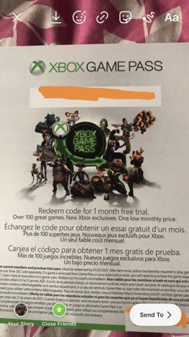 Xbox one game pass for Sale in El Monte, CA