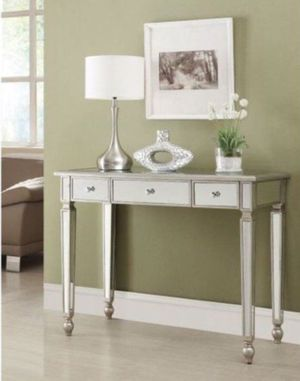 Coaster Furniture Antique Silver Mirrored Console Table new in the box for Sale in Westerville, OH