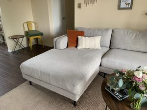 Modern Grey Couch with Chaise for Sale in Irvine, CA