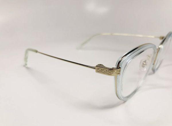 1dd68dafbd6b ... New Authentic Versace MOD 1244 1405 Transparent Soft Blue   Gold  Eyeglasses 53 17  ...