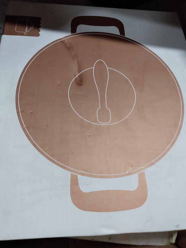 Copper TUBBERWARE pot & pan
