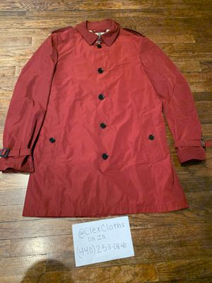 Burberry Brit Red Showerproof Trench Rain Jacket Sz L for Sale in Cleveland, OH