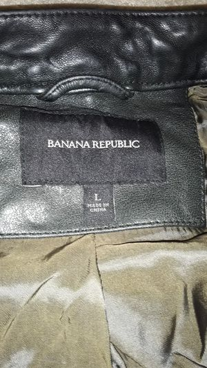 Banana Republic leather jacket for Sale in Arlington, VA