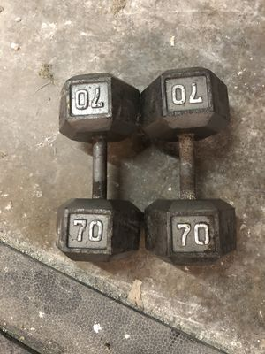Iron hex dumbbells for Sale in Apopka, FL