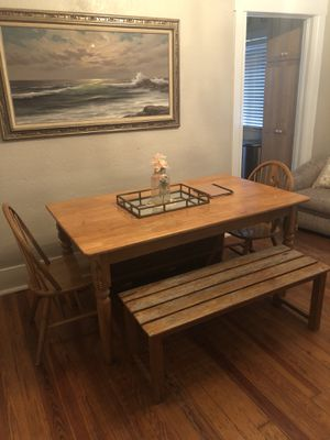 Table and chairs and bench for Sale in Orlando, FL