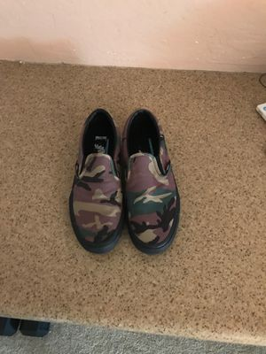 Black And Camouflage Slip On Custom Vans Shoes for Sale in Surprise, AZ