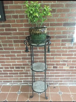 Metal shelf with plant. for Sale in Washington, DC