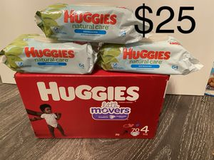 Huggies Little Movers size 4 for Sale in Lawrenceville, GA