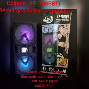 Dolphin ( Sp- 700RBT) Rechargeable Party Speaker for Sale in Colton, CA