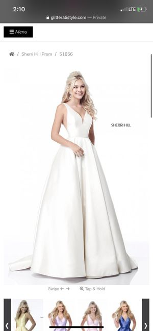 White prom dress for Sale in Chelsea, MA