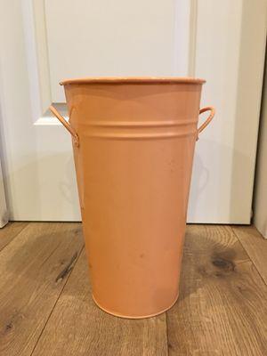 Orange rustic metal vase for Sale in Vancouver, WA