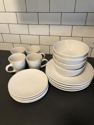 Pfaltzgraff 16 piece dish set and glasses for Sale in Seattle, WA