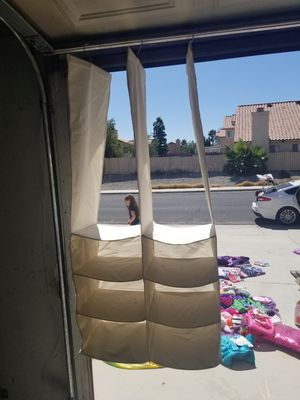 Canvas hanging storage for closet for Sale in Victorville, CA