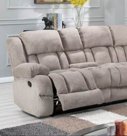 Gray reclining sectional sofa for Sale in Houston,  TX