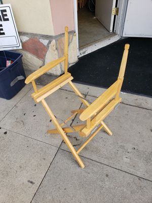 Folding chairs. Need fabric for Sale in Long Beach, CA