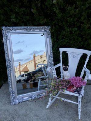 Solid wood victorian silver mirror for Sale in Miami, FL