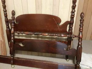 Double bed frame with headboard and footboard for Sale in Cohoes, NY