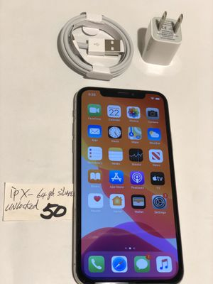 Apple iPhone X-64 GB,Unlocked. any carriers,Silver/Black,A1901,Clean imei,Clean iCloud,Fully Functional,Everything works,Mint Conditions. for Sale in San Lorenzo, CA