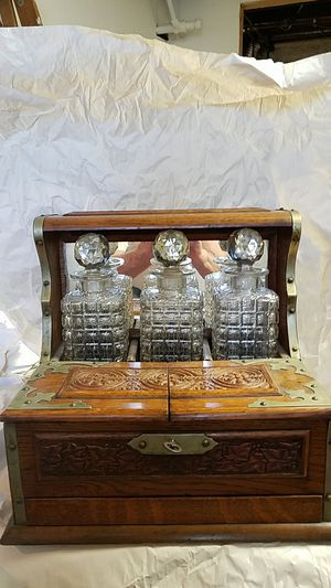 19th century English Tantalus... hate to part with it has been in my family for years downsizing we've enjoyed it and hope to pass it on for Sale in West Haven, CT