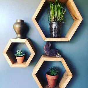Hexagon hanging shelves (Set of 3) for Sale in MENTOR ON THE, OH
