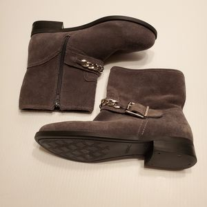 Gray Suede Crescent Ankle Boots- Women Size US 7 EUR 38 for Sale in San Jose, CA