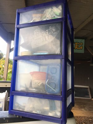 4 plastic drawer storage for Sale in Honolulu, HI