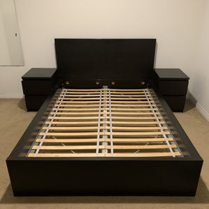MALM Full Bed Frame with Two Drawers for Sale in Kenmore, WA