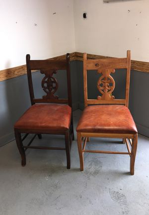 Chairs-Pair of Carved Chairs -15for Both-Little Haiti Warehouse Liquidation-Bryce LeVan Cushing Liquidator for Sale in Miami Beach, FL