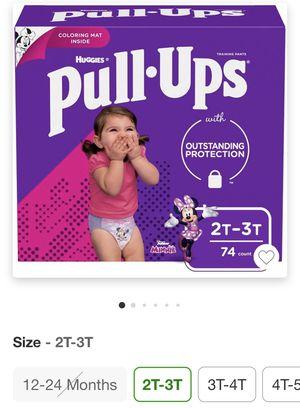 Pañales 2T-3T huggies niña for Sale in Las Vegas, NV