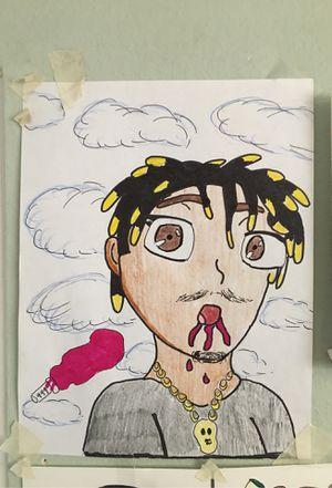 "Juice WRLD drawing "" 'purp'le dreams' for Sale in Santa Maria, CA"