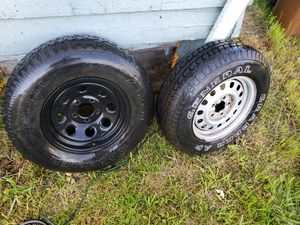 2 tires plus wheels for Sale in Tacoma, WA
