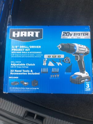 "*HART 3/8"" Drill/Driver PROJECT KIT 20v SYSTEM* for Sale in Matthews, NC"