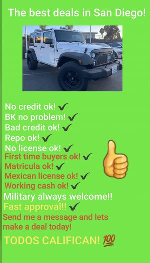 2015 JEEP WRANGLER UNLIMITED SPORT 4X4! for Sale in San Diego , CA