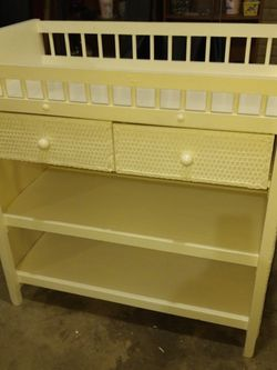 Solid Wood And Wicker Changing Table for Sale in Washington,  IL