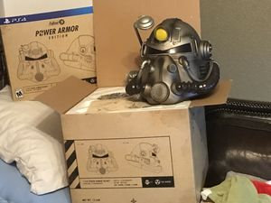 Fall out 76 power armor wearable helmet (new) plus many extras... for Sale in Abilene, TX