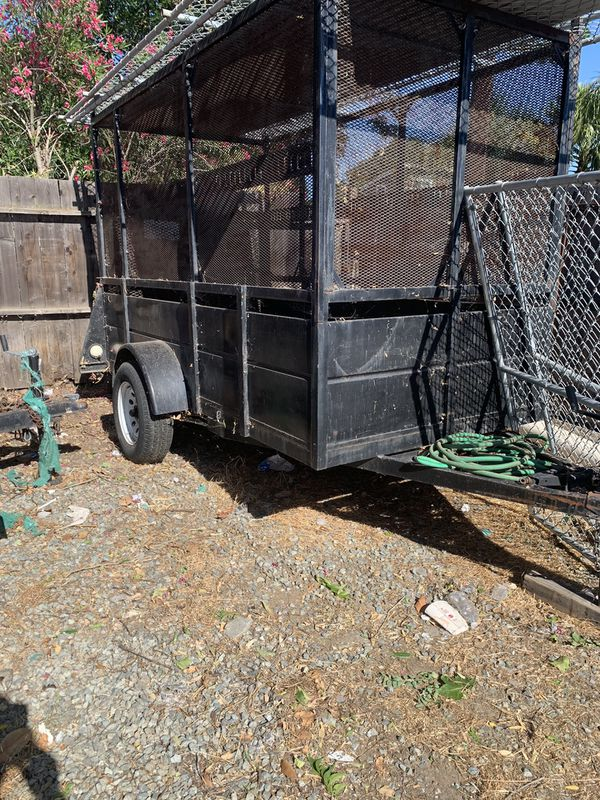 Trailer 5x10 high sides and rack on top