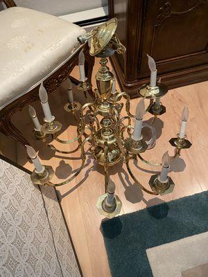 Brass chandelier for Sale in Hillsborough, CA