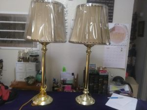 2 brass colored lamps for Sale in Tulsa, OK