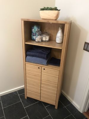 Solid Bamboo Bathroom Storage Cabinet for Sale in Los Angeles, CA