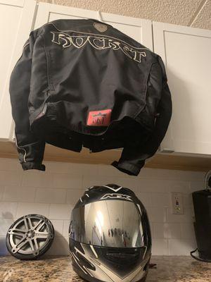 Motorcycle helmet and jacket combo for Sale in Davie, FL