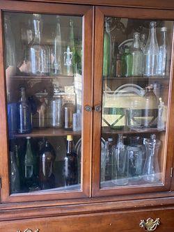 Dining Room Cabinet With Old Bottles for Sale in Laurel,  MD