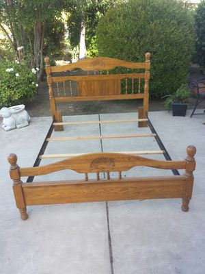 Vera tile Queen/Full Size Wood and Metal Bed Frame for Sale in Clovis, CA