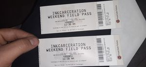 INKARCERATION Tickets (2) 3-day Field Passes!!! for Sale in Hilliard, OH